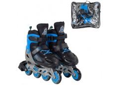 ролики Best Roller колеса PVC 6,5см. (пер.-свет), разм. 30-33, в сумке, син.  20...