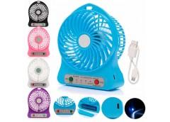вентилятор Mini Fan настольный на акум. с USB-зарядкой  1501