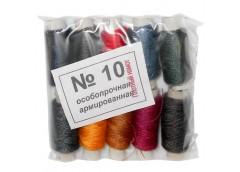 нитки №10  цветные  (10) за упак.  (250)