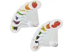 веер фрукты-овощи пластмассовый  (200)