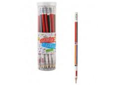 карандаш простой 1Вересня Единицы измерения круглый с ласт. в пл.тубе  280474  (...
