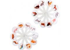 веер животных пластмассовый  (160)