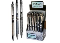 ручка Piano РS-007 шар. масл. автоматич. син.  (24/1152)
