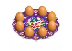 декоративная подставка для яиц Жостово № 8 тарелка на 8 яиц  (100)