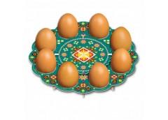 декоративная подставка для яиц Традиционная № 8 тарелка на 8 яиц  (100)