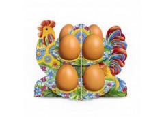 декоративная подставка для яиц Петушок-петриковка № 8.1 на 8 яиц  (70)