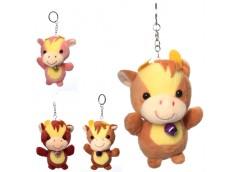 мягкая игрушка корова 10см., брелок, колокольчик, в кул. 7х10х6см.  МР 2158  (20...