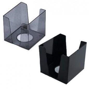 бокс для бумаг КИП пластмас. 90х90х90мм. дымчатый  (6/108)