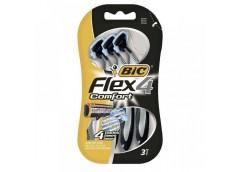 станок для бритья BIC Flex 4 Comfort набор 3шт., цена за набор