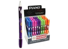 ручка Piano РТ-251 шар. масл. для развития каллиграфии (ЛЕВАЯ) син.  (50/2400)